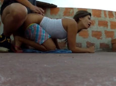 imagen Latina follando en la azotea de su casa